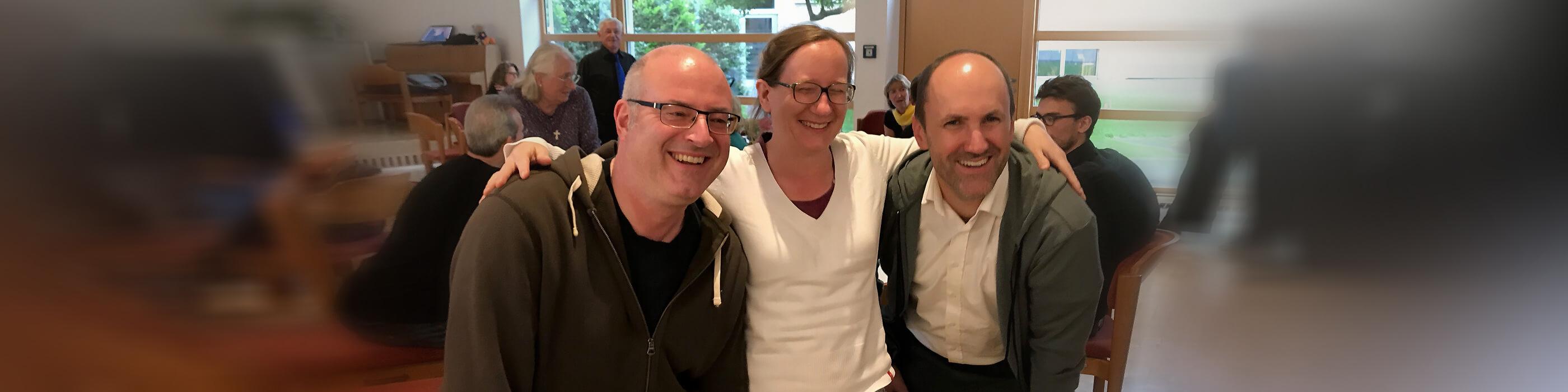 Die Troll-Chorleiter v.l.n.r.: Christian Letschert-Larsson (seit 2017), Denise Weltken (2008–2016), David Panten (1998–2007)